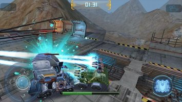 Robot Crash Fight Screen
