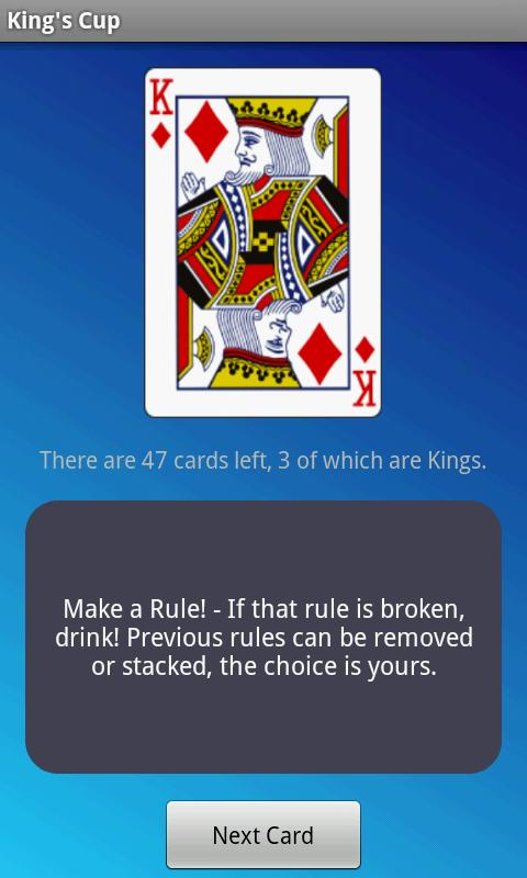 King's Cup - Drinking Game screenshot 1