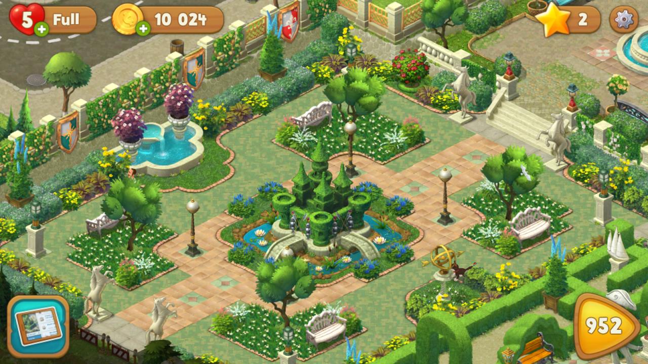 Gardenscapes Screenshot 1 Gardenscapes ...