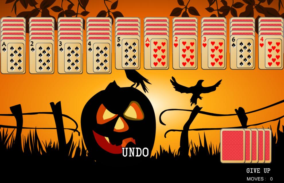 halloween spider solitaire