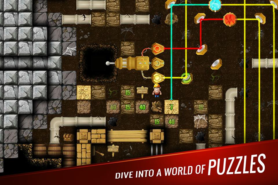Diggy's Adventure: Puzzle E Labirinto De Minas 2D screenshot 2