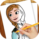 Learn to Draw Anna Frozen