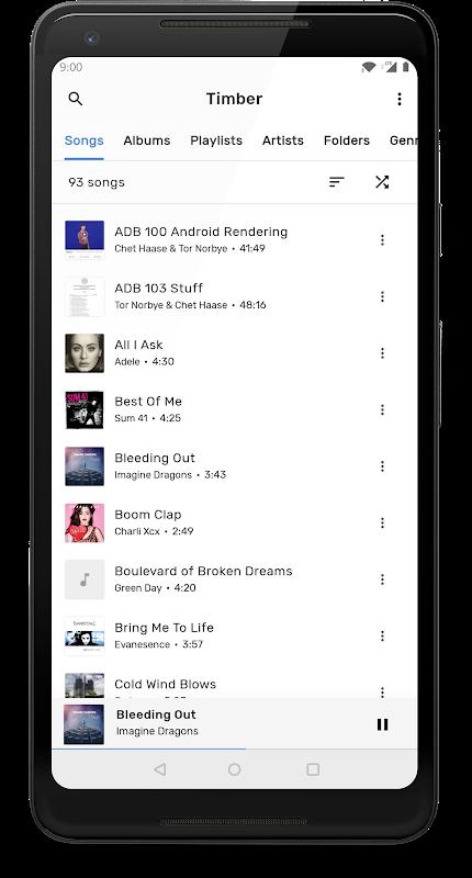 TimberX Music Player screenshot 1
