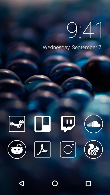 Monoic Monotone White Icon Pack for Nova Launcher screenshot 3