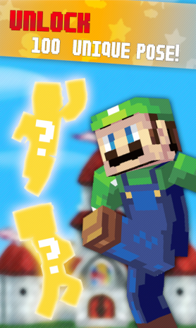 SUPERME 3D Block Avatar Maker Super Mario Adventure Skin 1 0