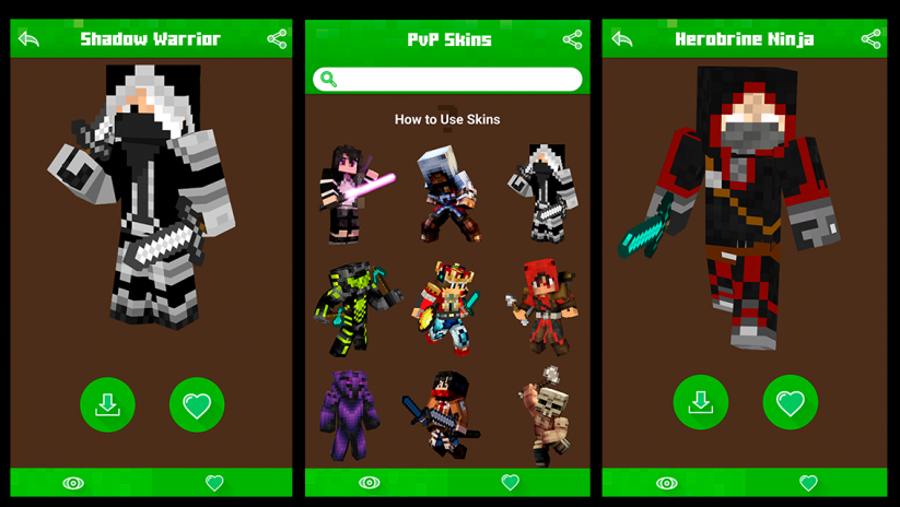 PvP Skins For Minecraft PE PC Descargar APK Para Android Aptoide - Skin para minecraft android y pc
