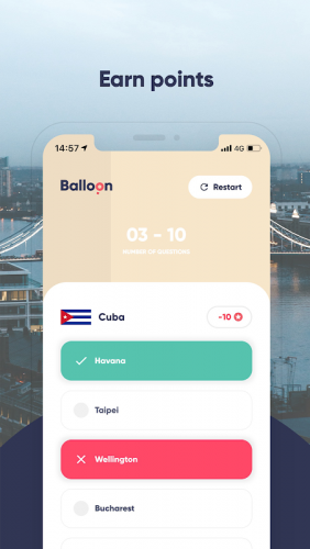 Balloon Game - Capital World Quiz screenshot 2
