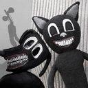 Scary Cartoon Dog Angry Cartoon Cat Versus