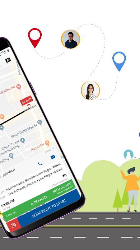 sRide - Office Ride, Carpool, Bikepool, Rideshare screenshot 2