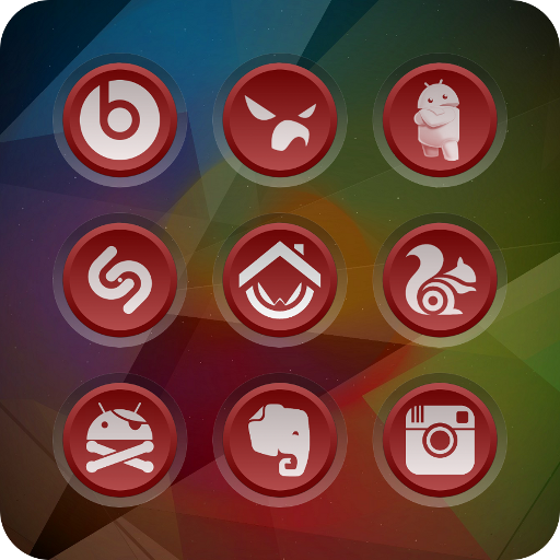 3K SR RED - Icon Pack