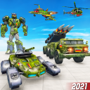 Army Truck Robot Car Game