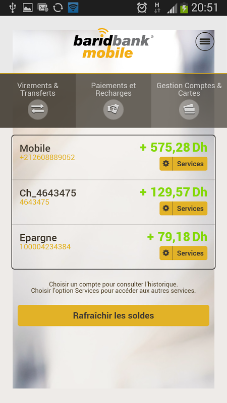 barid bank mobile gratuit