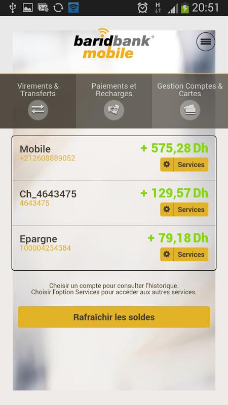 barid bank mobile gratuit