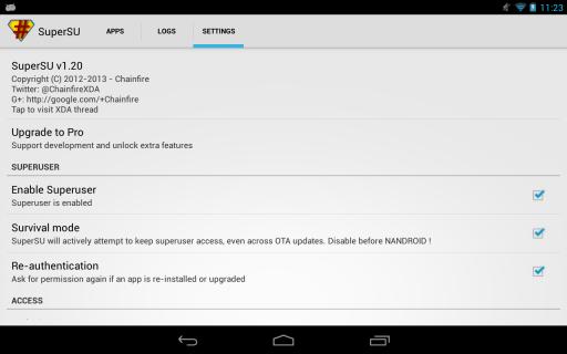 SuperSU Pro screenshot 1