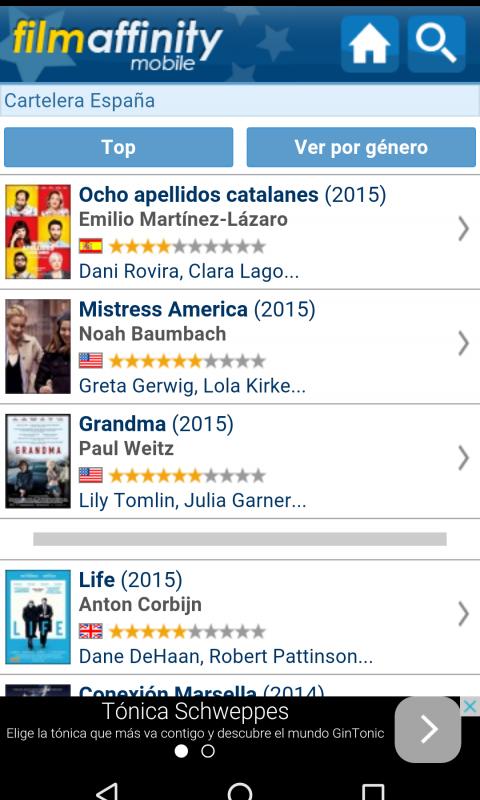 Filmaffinity app screenshot 2
