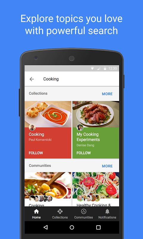 Google+ screenshot 4