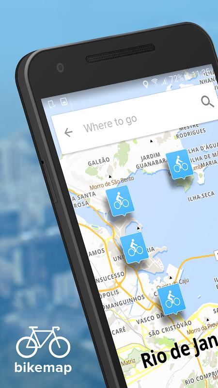 Bikemap - GPS e Mapas de rotas para ciclismo screenshot 1