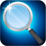 magnifying glass with light Icon