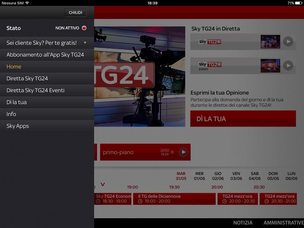 sky tg24 gratis