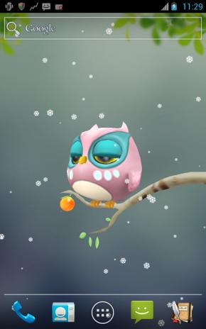 ... Screenshot owl 3d wallpaper 3 ...