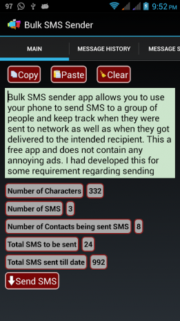 Bulk SMS Sender 1 0 3 Download APK for Android - Aptoide