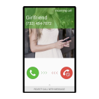 Chamada falsa namorada