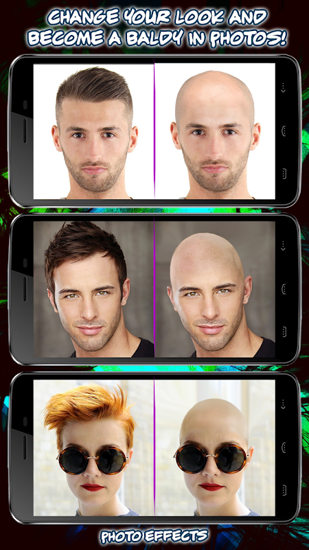 Make Me Bald Funny Hairstyle Changer Photo Booth 10 Download Apk