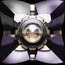 next launcher theme purple d icon