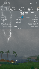 awesome weather yowindow live wallpaper widgets screenshot 7