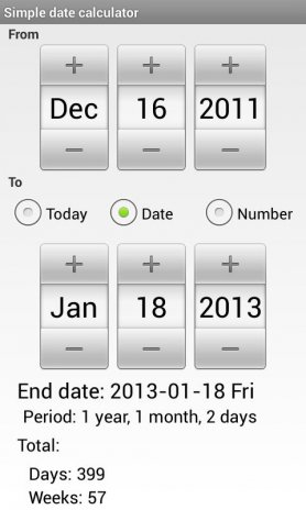 Simple Date Calculator 1 1 Download APK for Android - Aptoide