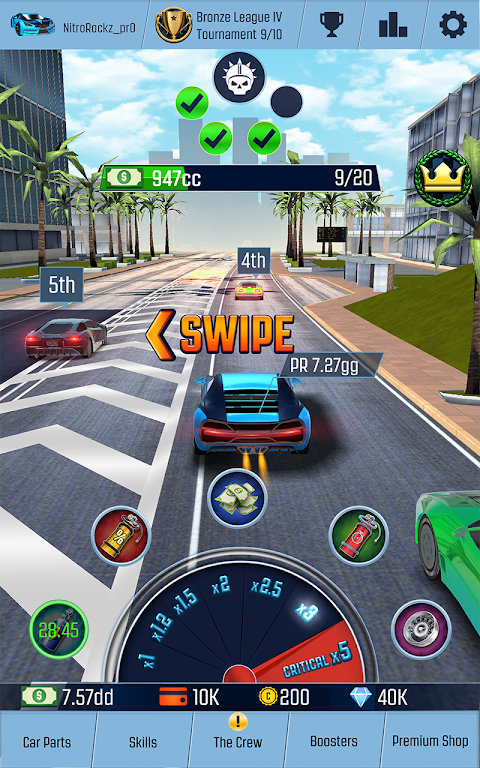 Idle Racing GO: Clicker Tycoon & Tap Race Manager screenshot 1
