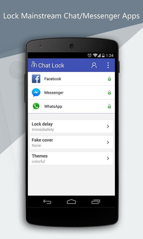 Chat lock app