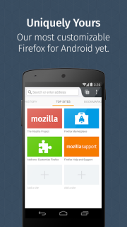 Firefox for Android Beta screenshot 1