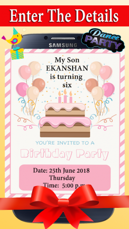 Birthday Invitation Card Maker Screenshot 1 2