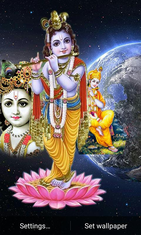 5d Lord Krishna Live Wallpaper 1 0 Download Android Apk Aptoide