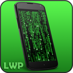 Digital Matrix Code Rain Live Wallpaper Icon