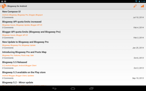 Blogaway for Android (Blogger) screenshot 5