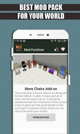 furniture mod minecraft pe iphone