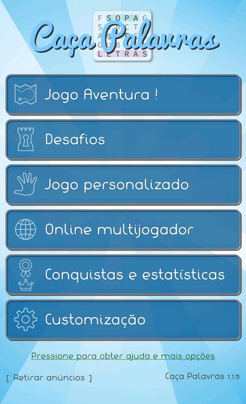 Caça Palavras - em  português screenshot 2
