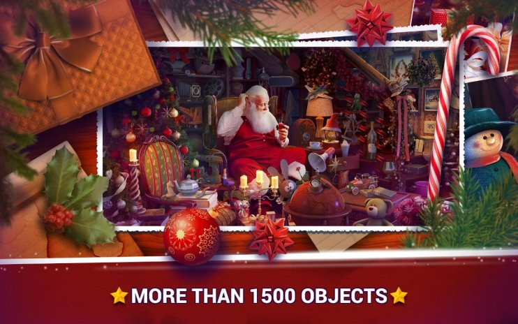 Hidden Objects Christmas Holiday Puzzle Game Screenshot 3
