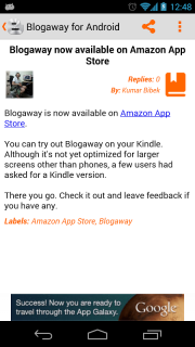 Blogaway for Android (Blogger) screenshot 10