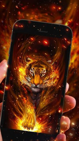Flame Tiger Live Wallpaper Screenshot 1 2