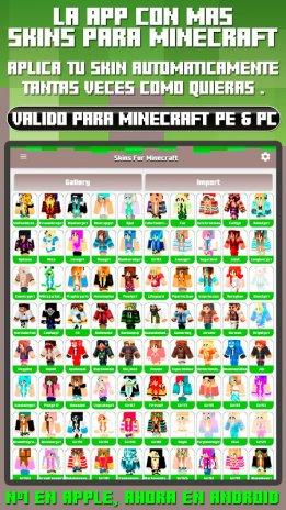 Skins Para Minecraft PE PC Descargar APK Para Android Aptoide - Descargar skins para minecraft pe android gratis