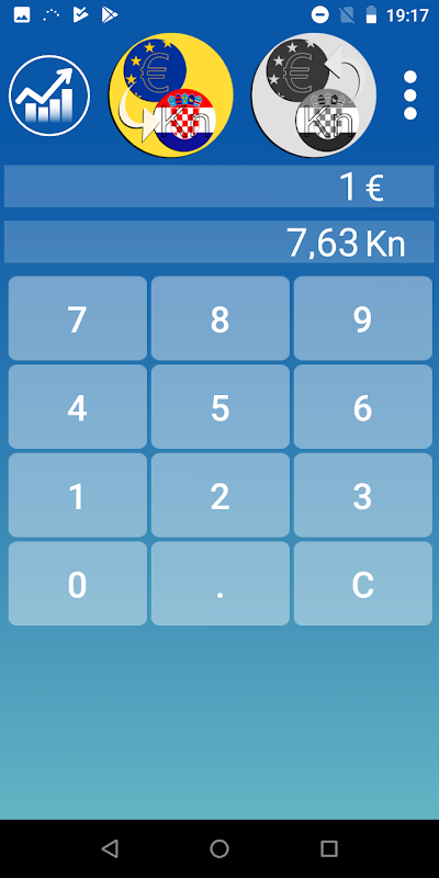 Croatian kuna Euro converter screenshot 2