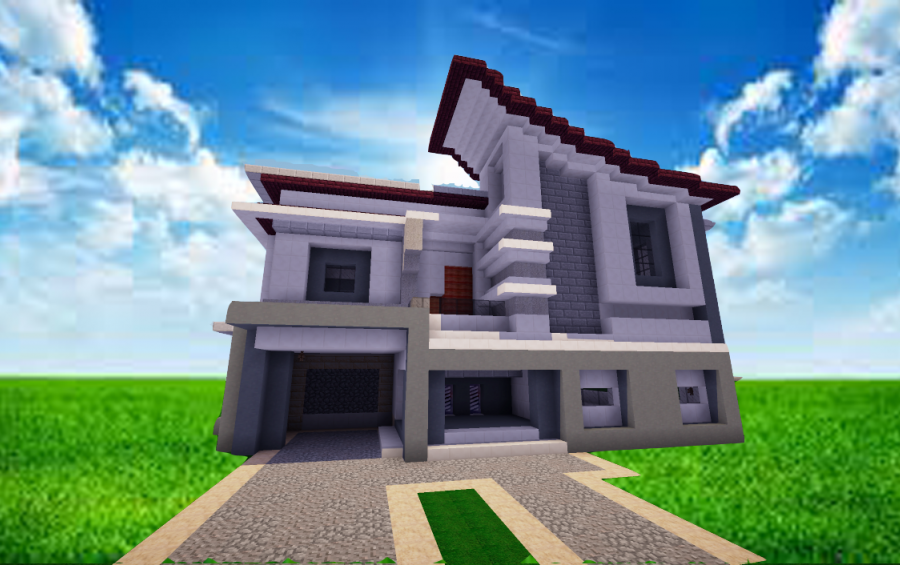 Modern house ideas mcpe mods apk for Modern house minecraft pe 0 12 1