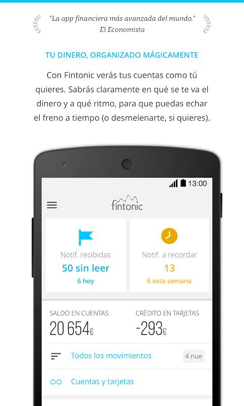 Fintonic - Finanzas Personales screenshot 1
