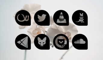 Oscuro Icon Pack Screen