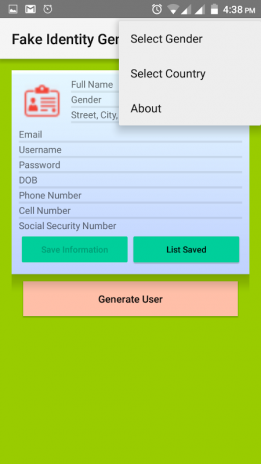 Fake identity generator 2 1 Download APK for Android - Aptoide