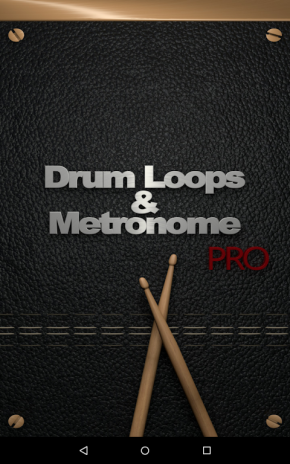 Example of recorded sound of metronome and drum kit (left panels.