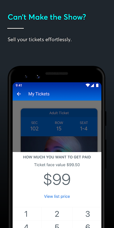 Ticketmaster-Buy, Sell Tickets to Concerts, Sports screenshot 2